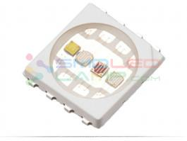 Safe RGBW LED Chip Launched EMC Substrate Surface Mounted -20 To 85 °C Operating Temp