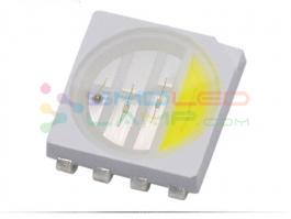 Cool White 10000K Rgbw Smd Led , 5050 Rgbw Led With 4 Chips 8 Pin Indicator Led